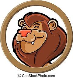 animals circle lion