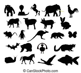 Animals Collection Silhouette