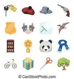 Animals, education, sports and other web icon in cartoon style.Taxi, Scotland, Library icons in set collection.