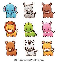 Animals - Vector illustration of Cartoon Animals set
