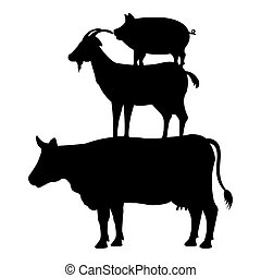 animals farm group icon