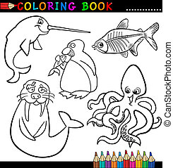 Animals for Coloring Book or Page - Coloring Book or Page...