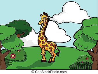 animals giraffe illustration