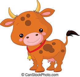 animals., granja, vaca