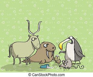 Animals Having Fun No.12