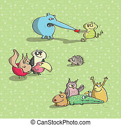 Animals Having Fun No.2