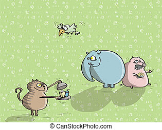 Animals Having Fun No.4