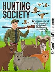 Animals hunting open season, hunter club - Hunter club or ...