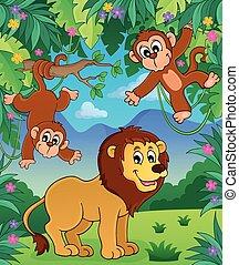 Animals in jungle topic image 3