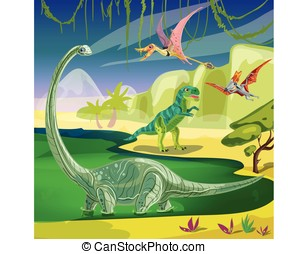 Animals Jurassic Composition