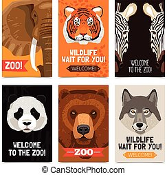 Animals Mini Posters Set