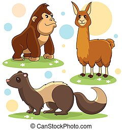animals part 22 - A set of cartoon pictures for children and...