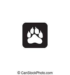 Animals paw track logo icon design vector template