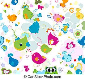 seamless pattern - animals seamless pattern