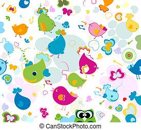 seamless pattern - animals seamless pattern