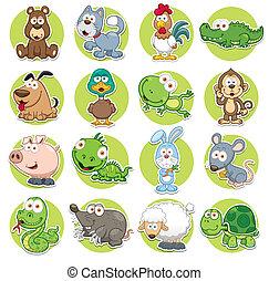 Animals set - Vector illustration of Animals set Cartoon