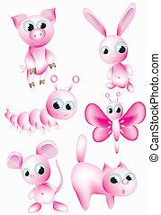animals., set:pink