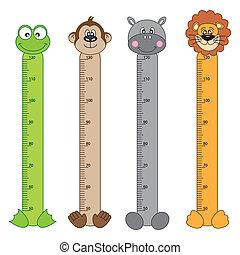 Animals Stickers - Bumper children meter wall. Animals...