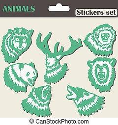 Animals Stickers set