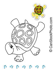 animals to be color, the turtle
