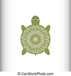 Animals. Turtle. Vector drawing.
