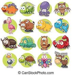 Animals - Vector illustration of Animals set Cartoon