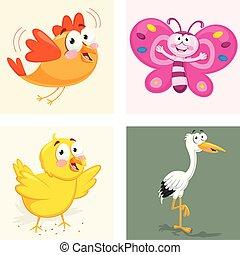 Animals Vector Illustration Set