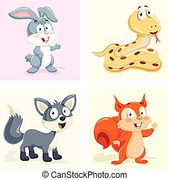 Animals Vector Illustration Set