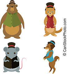 Animals with hats