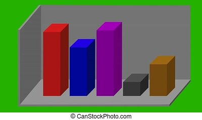 animated 3D bar graph - different colors