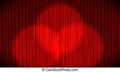 High Definition animation of Curtains at a theater 2
