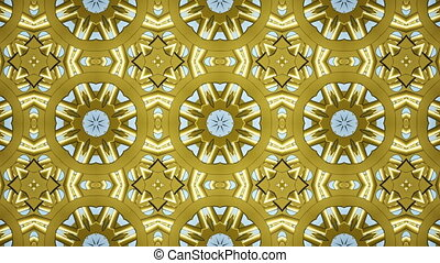 Animated abstract vintage floral texture wallpaper. 3D...
