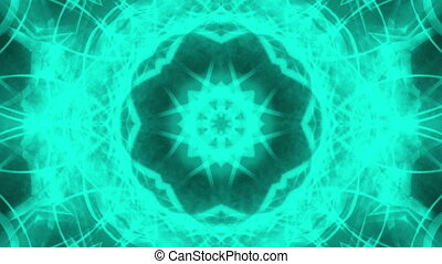 Abstract VJ Blue Green Loop