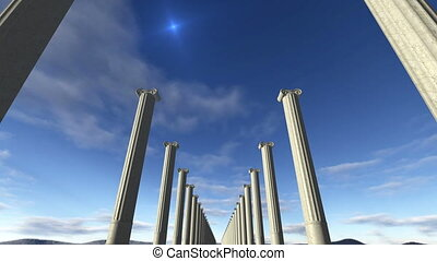 Animated ancient greek columns Loop-able 4K - An animated...