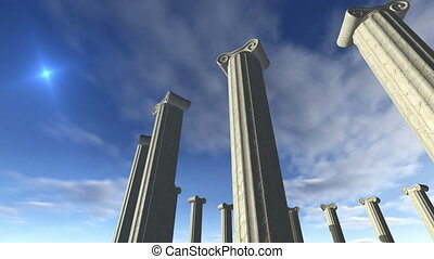 Animated ancient greek pillars Loop-able 4K - An animated...