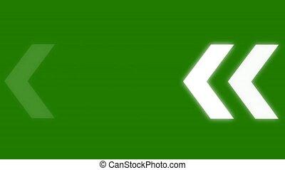 animated arrows - green screen