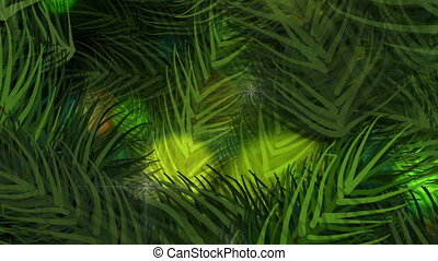 Animated background of fir branches for Christmas.