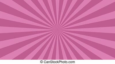 animated background of purple rotating beams.