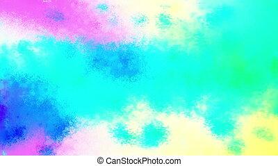 Painted Cosmic Cloud Loop
