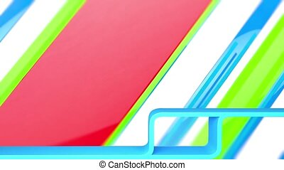 Animated background - 3D animation of a simple objects for...