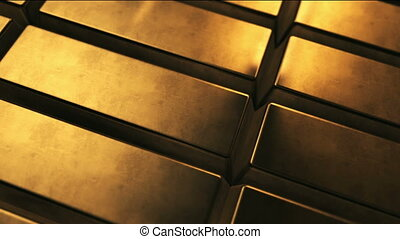 Animated background with gold bars
