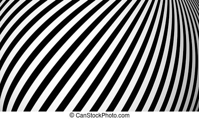 Animated background with white and black lines. Seamless...