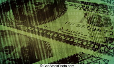 Bar codes and money spending loop - Animated Bar codes and...