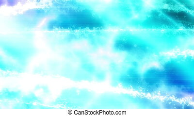 Blue Science Fiction Abstract Loop