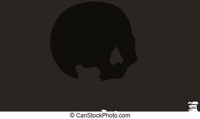 exploding skull - Animated cartoon - exploding skull