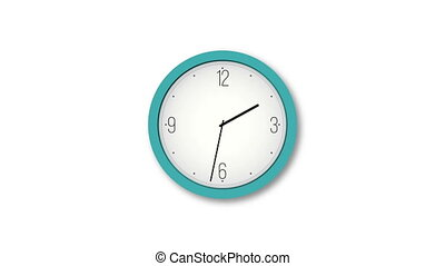 Animated clock counting down. Seamlessly loops