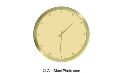 Animated clock counting - Animated golden clock counting...