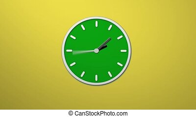 Animated clock time lapse