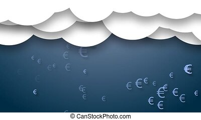 Animated clouds with rain from euro.