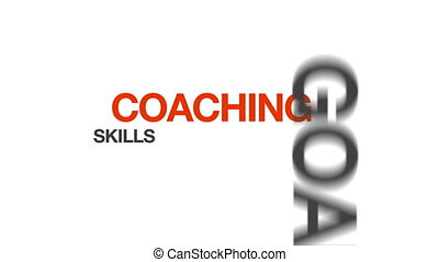 Animated Coaching illustration. Kinetic Typography.